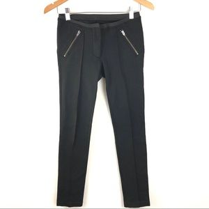 Elizabeth & James Black Moto Skinny Ponte Pants 2